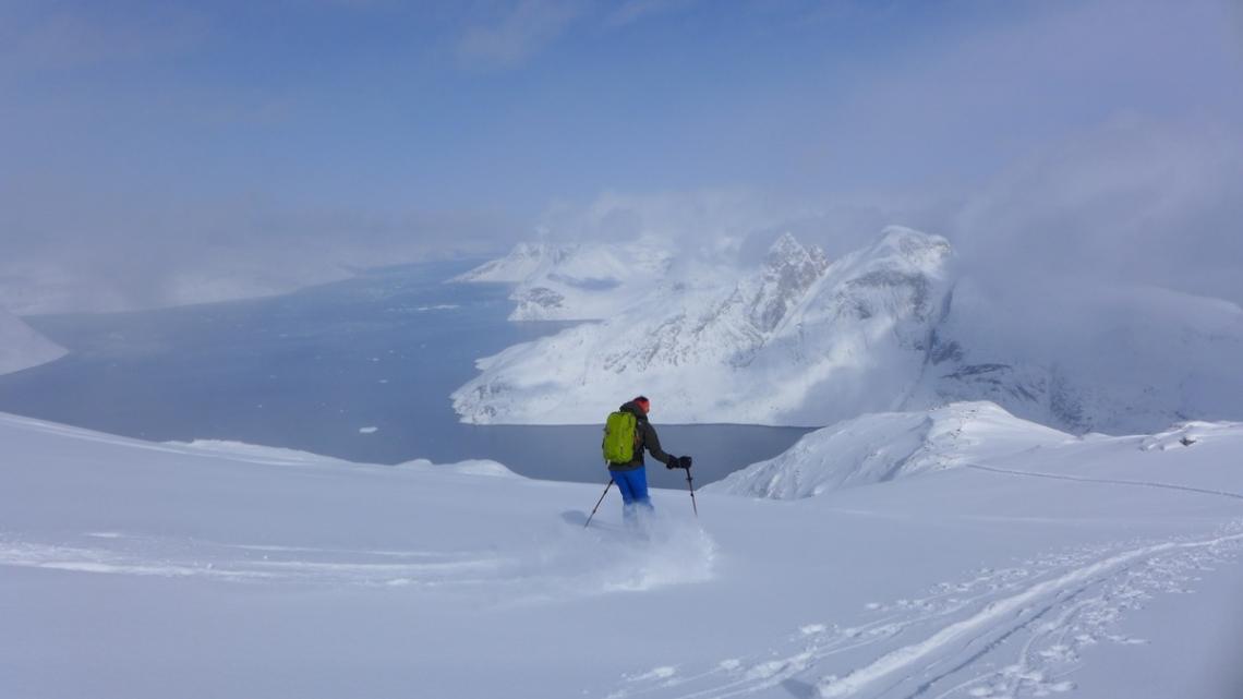 ski glacier mer