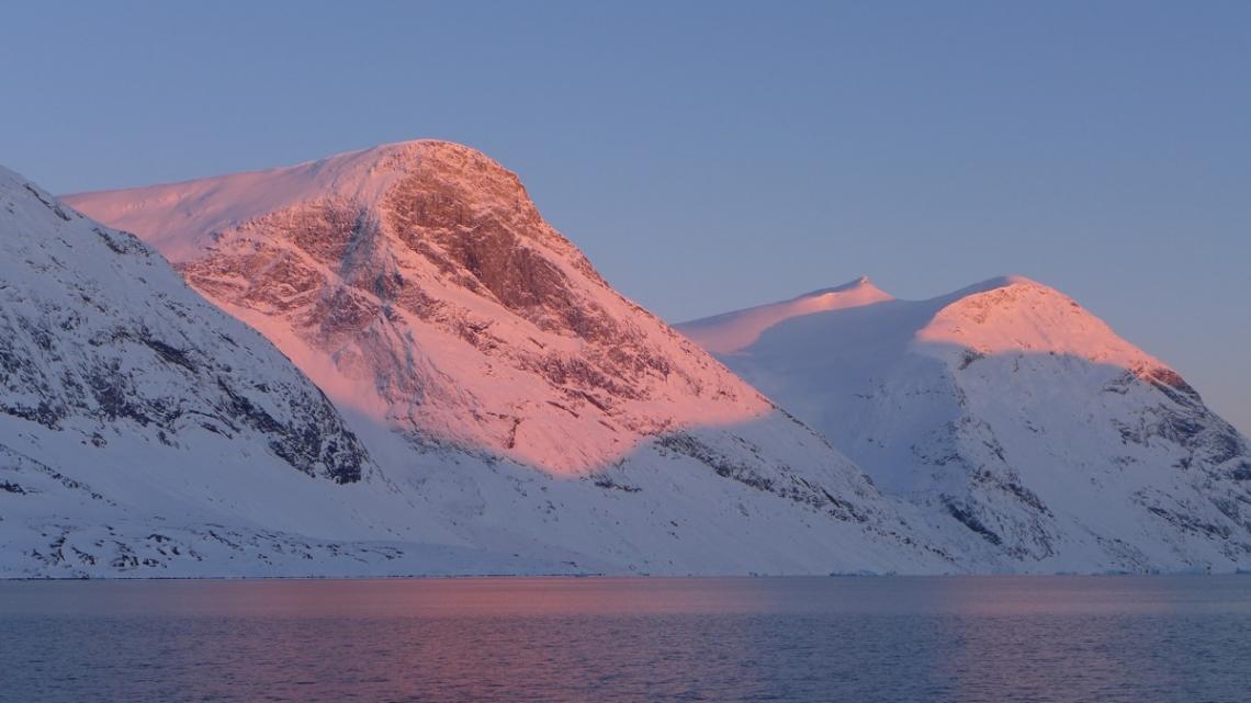 coucher de soleil au Groenland